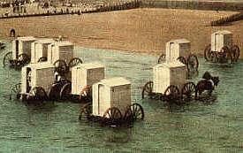 Bathing machines at Bognor Regis c.1905